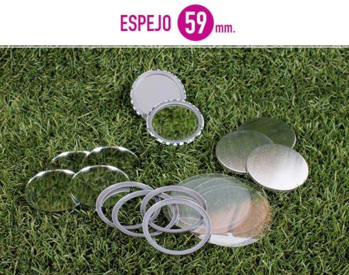 Recambios chapas espejos 59mm consumibles baratos for Espejos originales baratos
